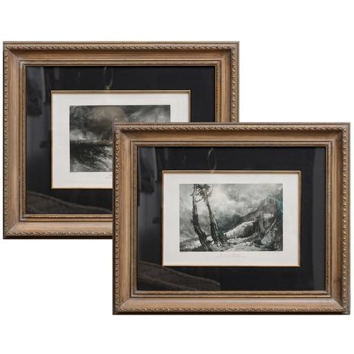 Set de 2 Gravuras Turner Antiga