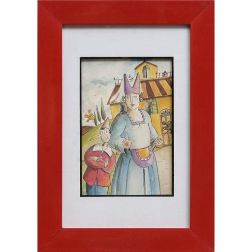 Set de 6 Quadros Gravura Pinocchio
