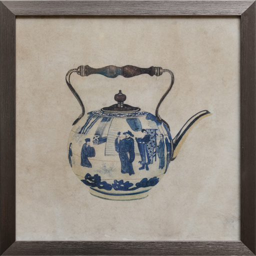 Set de 4 Quadros Porcelain
