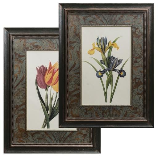 Set de 2 Gravuras Flores